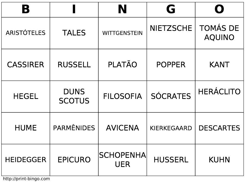 Bingo Filosófico