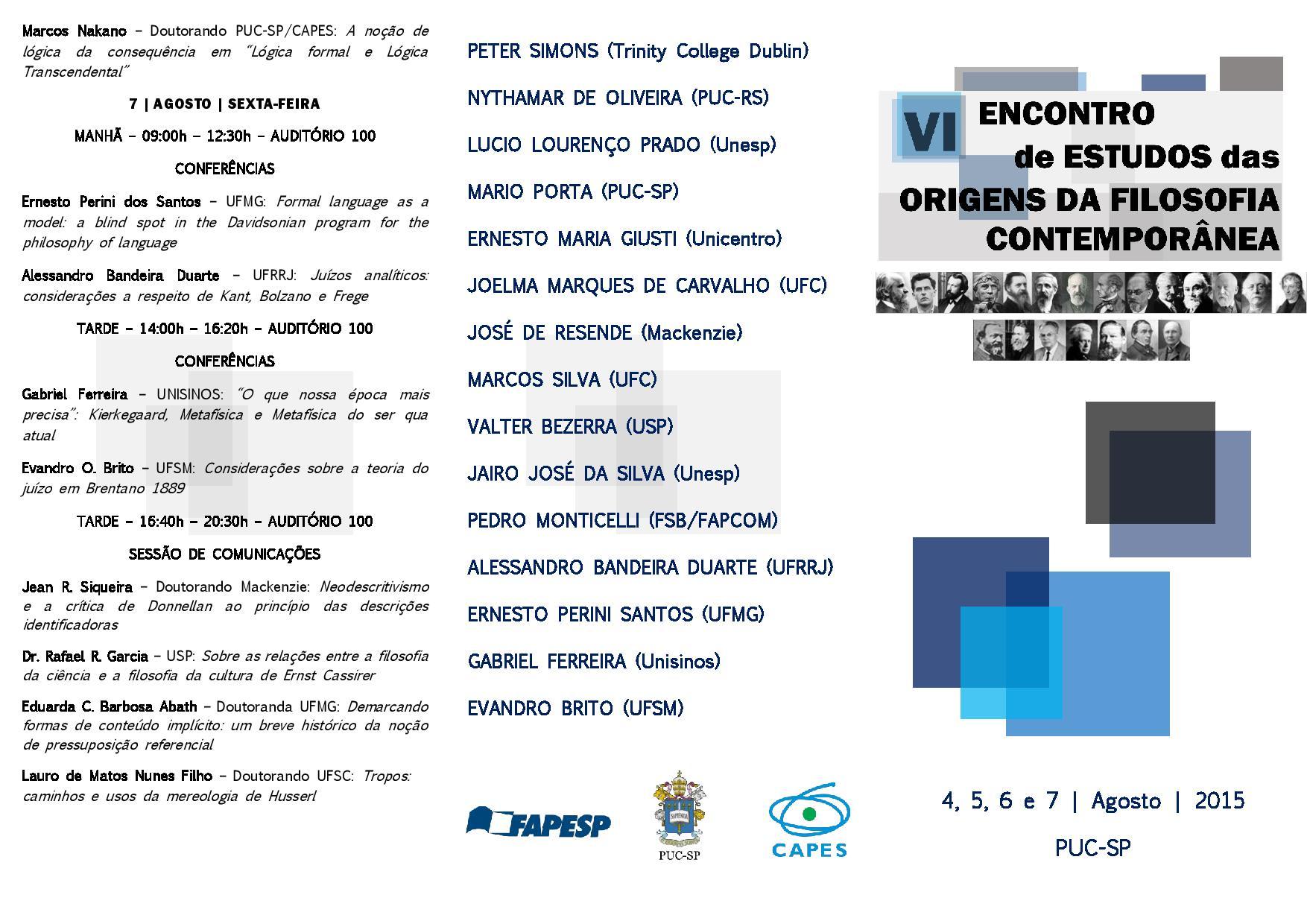 VI Encontro - Folder